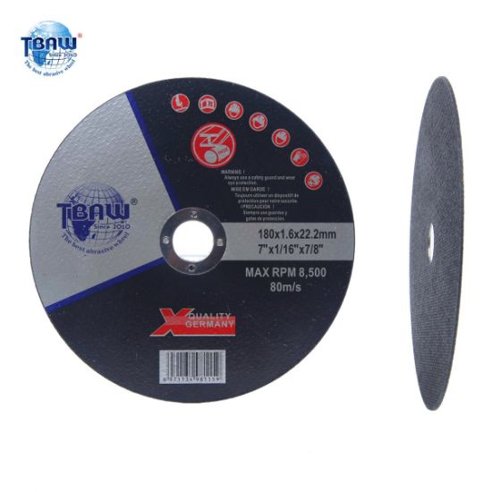 180X1.6*22mm Flat Center Cutting Wheel