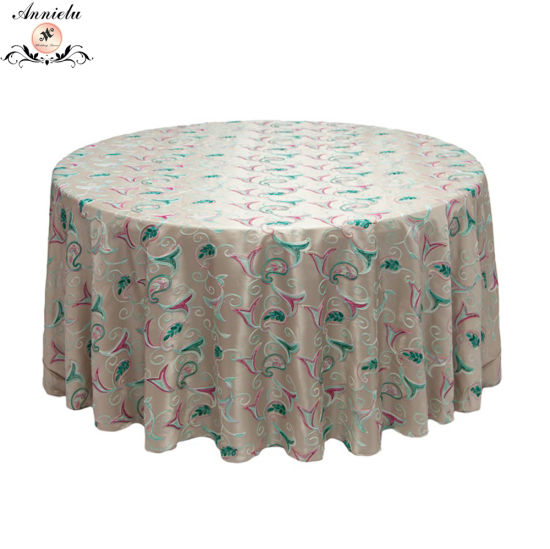 African Dining Table Cloth Set Wedding 120′′ Wedding Table Cover pictures & photos
