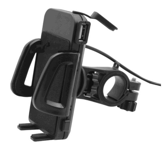 Universal Cellphone Mount Holder Motorcycle Handlebar Phones Mount +USB Charger