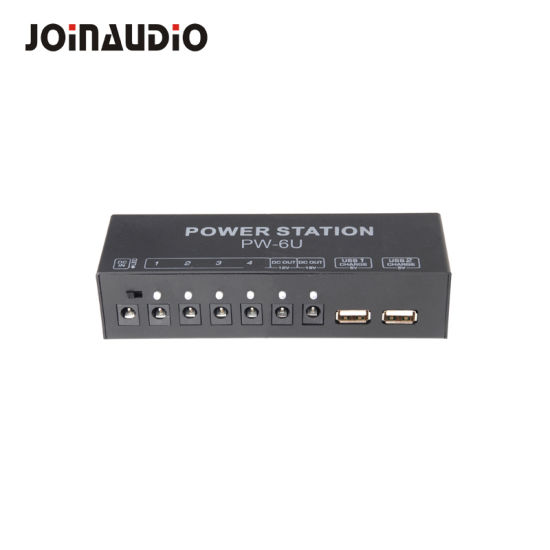 Power Supply Station Distributor 10 Isolated DC Outputs for 9V/ 12V/ 18V Guitar Effect Pedal with USB