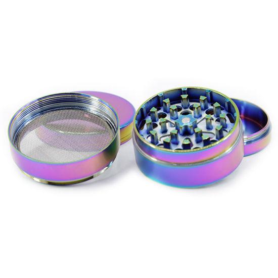 Metal Tobacco Smoke Herb Grinder 4 Layer Luxury Smoking Pipe Detector Grinding Machine Filter Accessories