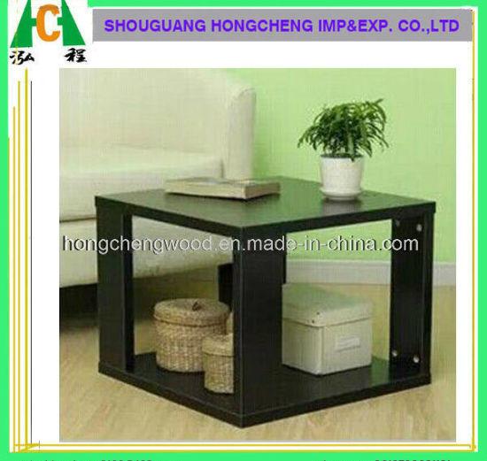 Elegant Simple MDF Dark Walnet Wooden Coffee Table Designs