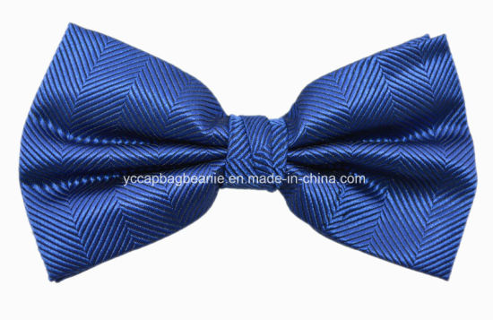 Fashion Classic Color Polyester Jacquard Cheapest Bow Ties pictures & photos