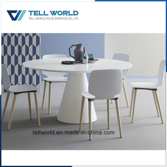 China Luxury Person M White Acrylic Solid Surface Round - Round conference table for 8