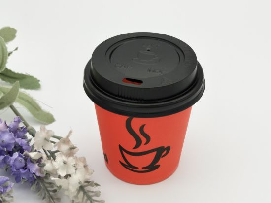 10oz 12oz 16oz Take Out Double Wall Hot Coffee Drinks Paper Cups With Plastic Lid