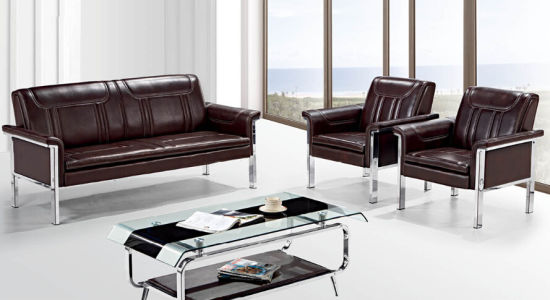 Leather Sofa With Metal Frame Double