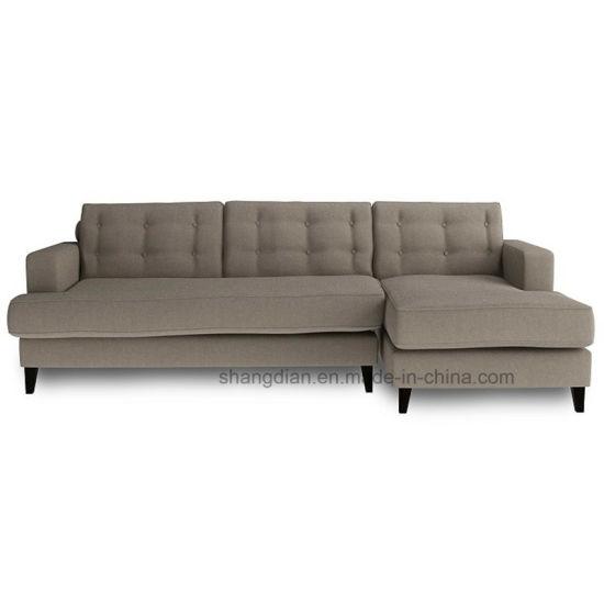 China Modern Design Fabric L Shape Hotel Sofa Set St0026 China L