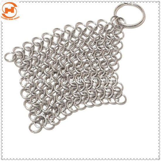 Stainless Steel Cast Iron Chainmail Scrubber