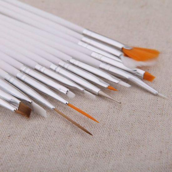 China Hot Selling Kits Professional Wooden Art Design Nail Brush