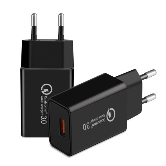 Ce UL Certificate QC3.0 EU Portable Travel Wall USB Charger