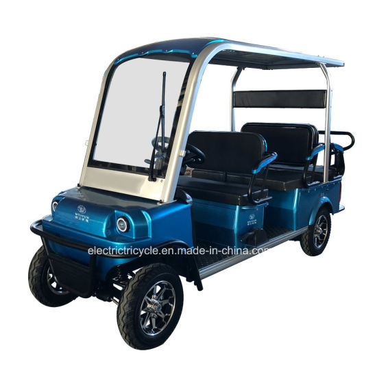 Fashion 4 Wheel Vehicle Electric Golf Cart with 6 Seat