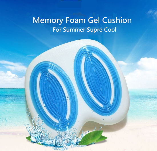 New Design Double Cooling Gel Memory Foam Seat Cushion
