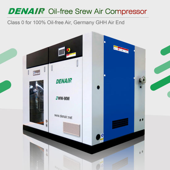 Industrial Silent Medical Dry Oil Free Oilless Rotary Screw Type Air Compressor for Sale pictures & photos