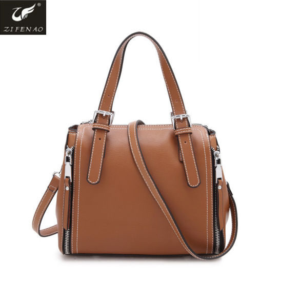 China 2018 Newest Design Fashion Genuine Cowhide Leather Ladies ... 447e60113f92b