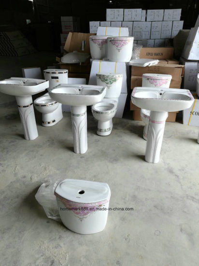 China Chaozhou Factory Sanitary Ware Ceramic Decorative Pedestal