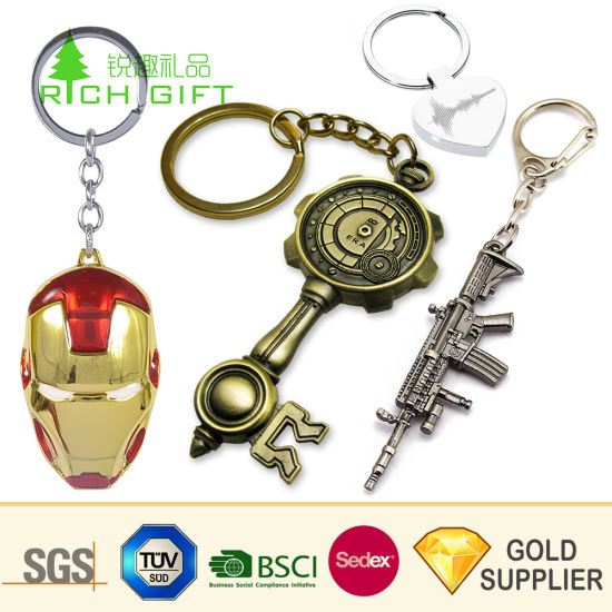 No Minimum Custom Logo Wholesale Bottle Opener Zinc Alloy Metal Key Ring Customized Promotion Laser Engraving Gold Airplane Car Coin Keyring for Souvenir Gifts pictures & photos