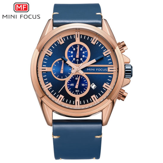 Mini Focus Blue Boys Quartz Wrist Watch with High Quality