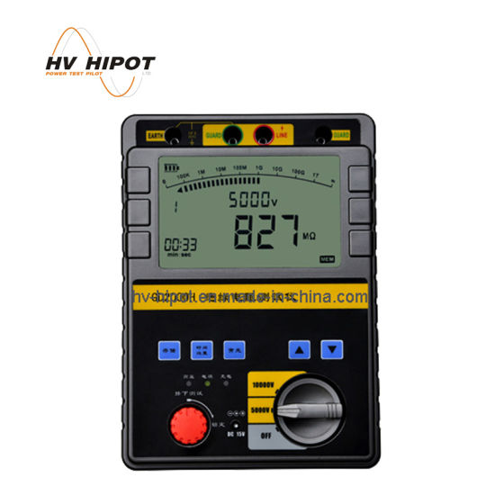 5KV/10KV Insulation Resistance Measurement Tester Meter For Discharge Rod GD2000H