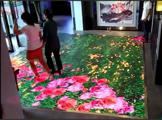 Radar Body Interactive LED Display / LED Interactive Sensitive LED Dance Video Floor Display Screen
