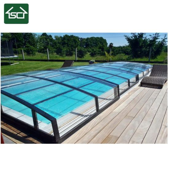 Retractable Pool Enclosure/ Aluminum Pool Cover for in Ground Pool
