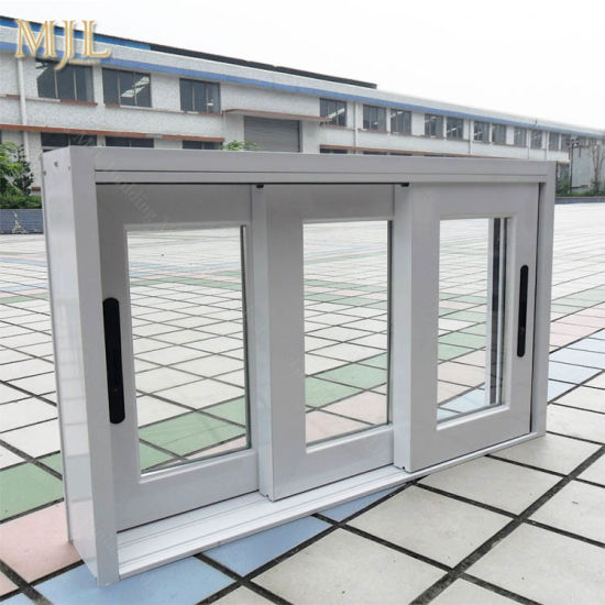 China Good Price Aluminum Exterior Door 2 Panel Double Glass Sliding