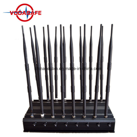 16 Antenna All in One for All 3G 4G Cellular,GPS,WiFi,Lojack Jammer System,Desktop Remote Control GPS Jammer Cell Phone Blocker Jammer Device 16 Powerful Bands