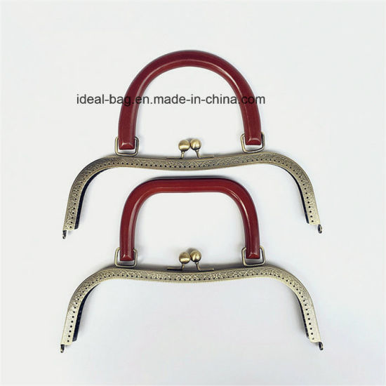 China Fashion Classic Bags Accessories Handle Parts Wood Purse Bag ...