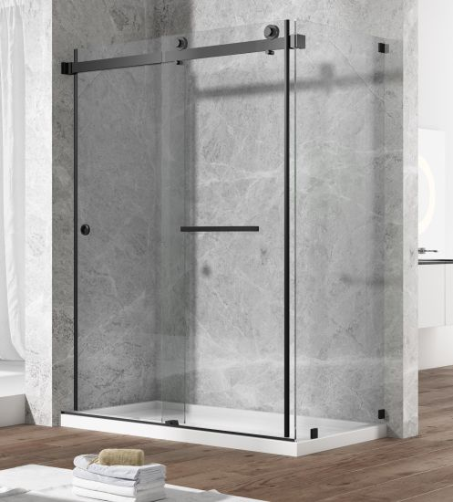 Stainless Steel Double Sliding Bathtub Shower Enclosure
