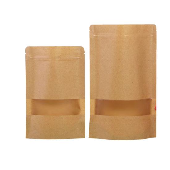 Barrier Packaging Pouches Custom Printed Plastic Bag Kraft Paper Mylar Bags  with Ziplock