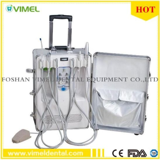 Dental Portable Turbine Unit with LED Curing Light Ultrasonic Scaler