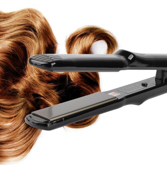 Salon Titanium Anti-Heating Plate Ionic Flat Iron Hair Straightener