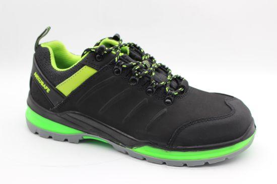 PU/TPU Action Nubuck Fashion Safety Footwear/Safety Shoes Ax09005