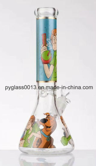 2019 China Manufacturer Safety and Fast Delivery Glass Water Pipe with Decals