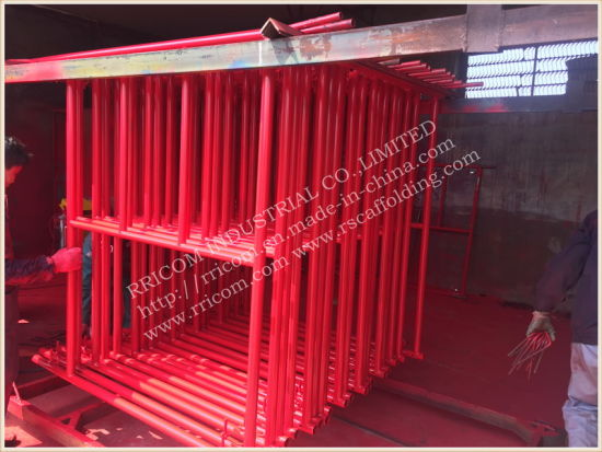 W Style Powder Coated Scaffolding Ladder Frames Exported to USA pictures & photos