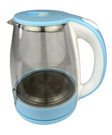 Hot Selling Main Products 1.8L Light Blue New PP High Borosilicate Glass Electric Kettle Safe Automatic Power off