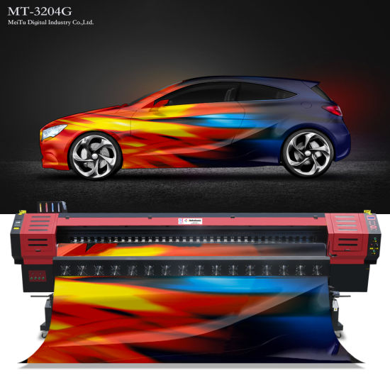3.2 Meters Flex Banner Impresora Plotter Solvent Printer with Konica Printhead (MT-KN3208CI)