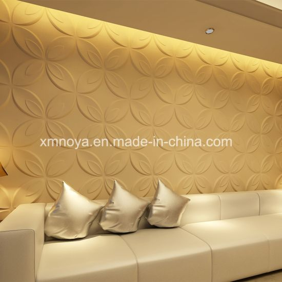China Acoustic Sound Insulation 3D PVC Wall Panel for Interior ...