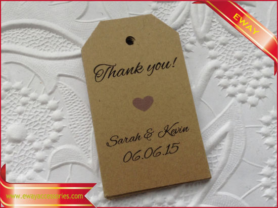 Kraft Paper Hangtag Printed Garment Paper Hang Tag pictures & photos