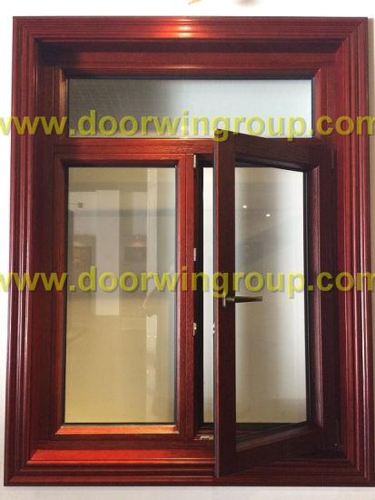America Design Solid Oak Wood Aluminum Inswing Casement Window