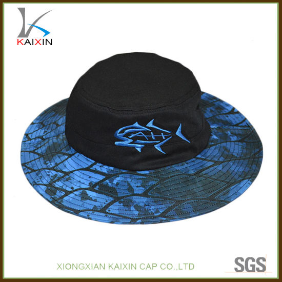 ab389594534d2 Custom Screen Printing Wide Brim Boonie Bucket Hat with Embroidery Logo