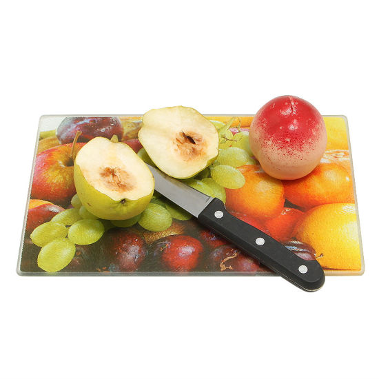 Colorful Design Rectangle Tempered Kitchenware Glass Cutting Board/ Chopping Board