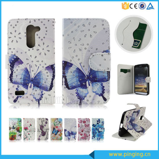Leather Flip Cover Case for LG Ls775 with Card Slots pictures & photos