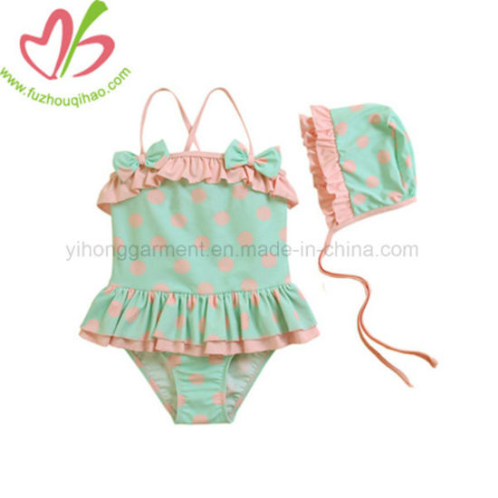 dd19782794 China Baby Girl One Piece Swimwear with Hat for Summer - China ...
