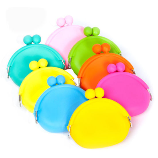 Fashion Ladies Clamshell Clutch Silicone Coin Purse