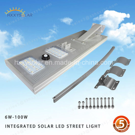Integrated Sensor Garden LED Solar Street Lights 60W-110W pictures & photos