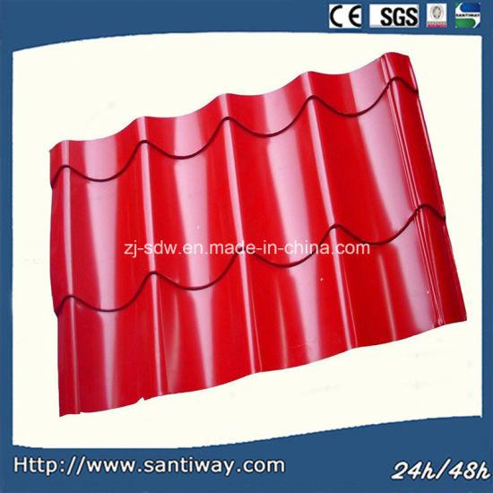 Red Prepainted Galvanized Steel Roof Tiles