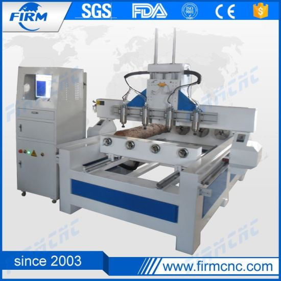 Multi Spindle Woodworking 4 Axis CNC Router Wood Carving Machine