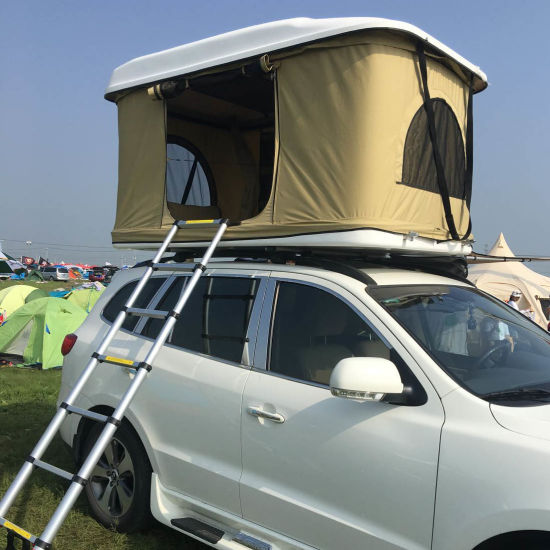 China Outdoor Fiberglass Hard Shell Roof Car Tent for