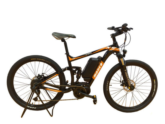 New Middle Motor E-Bike Electric Bicycle Mountain E Bike Suspension Alloy Frame Shimano Gear