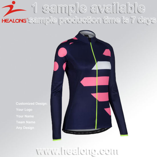 Healong Customized Sublimated Girls Bicycle Cycling Jersey Shirt pictures    photos f451bcec0